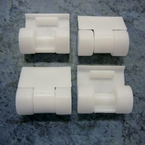 The PoolCleaner 2 wheel pool cleaner front roller skirts